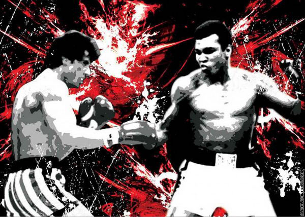 Rocky vs Ali (Pop Art)