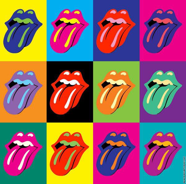 Bien connu Reproduction du tableau Rolling Stones 3x4 (Pop Art) OD56