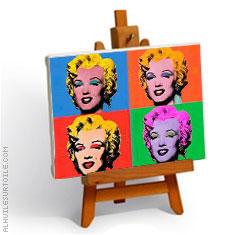 Votre Portrait POP ART peint à la main à l'huile sur toile.