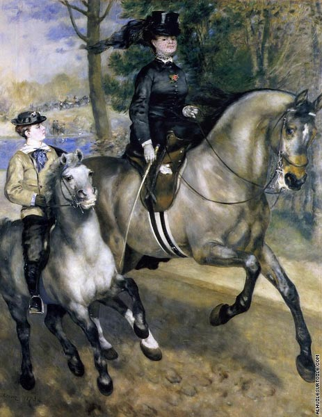 Riding in the Bois de Boulogne (Renoir)