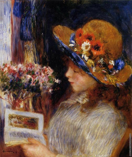 Young girl reading (Renoir)