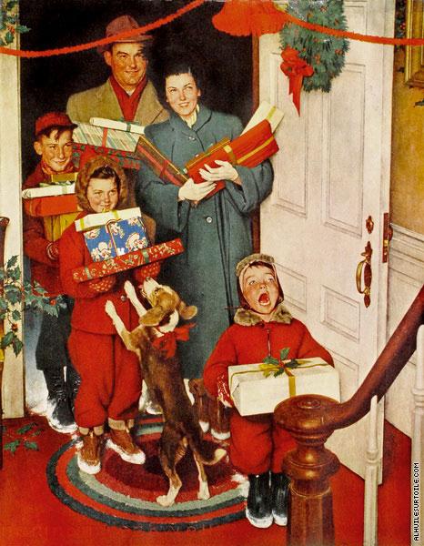 Joyeux Noel Mere Noel.Joyeux Noel Grand Mere Rockwell