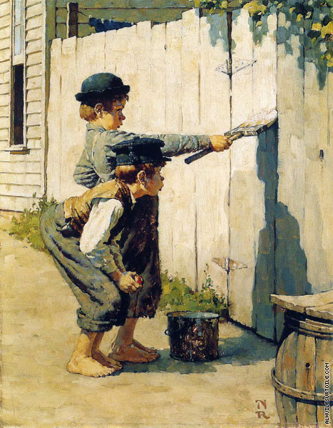 Whitewashing The Fence - Tom Sawyer (Rockwell)