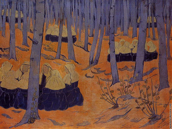 Breton Women - The Meeting in the Sacred Grove (Serusier)
