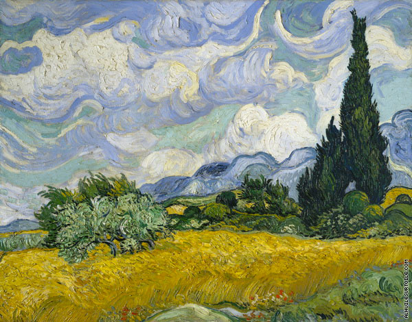Wheat Field with Cypresses 2 (Van Gogh)