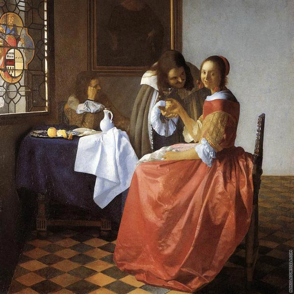 A lady and two gentlemen* (Vermeer)