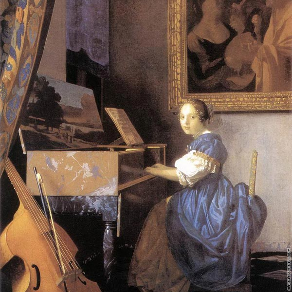 Lady seated at a virginal (Vermeer)
