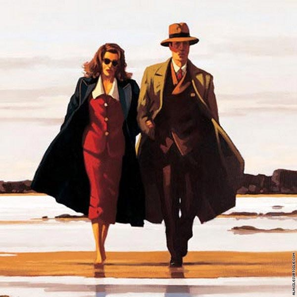 reproduction du tableau the road to nowhere vettriano. Black Bedroom Furniture Sets. Home Design Ideas