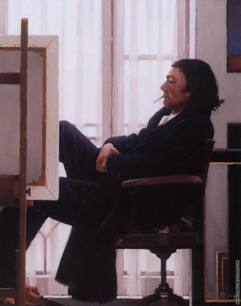 Chelsea Morning - Self Portrait (Vettriano)