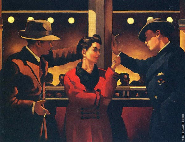 Cleo and the boys 2 (Vettriano)