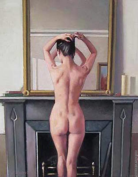 Model at Mirror (Vettriano)