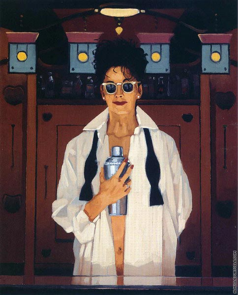 The Cocktail Shaker (Vettriano)