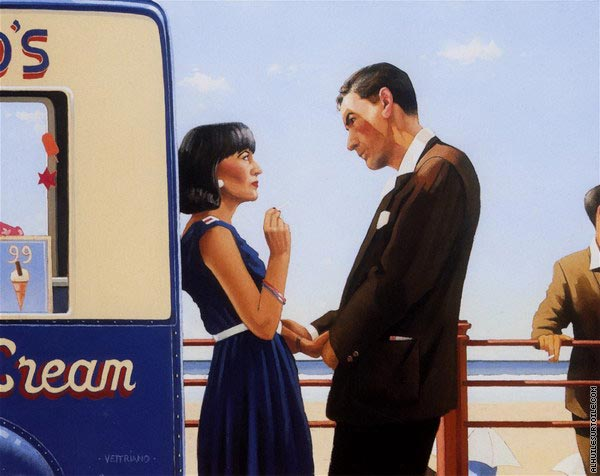 The Lying Game (Vettriano)