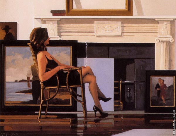 The Model and the Drifter (Vettriano)