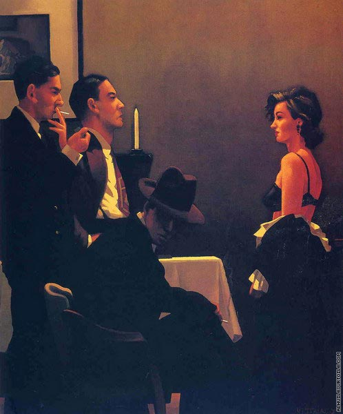 We can't Tell Right from Wrong (Vettriano)