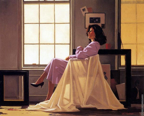 Winter Light and Lavender (Vettriano)