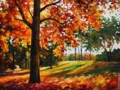 Autumn forest (Afremov)
