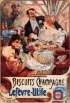 Biscuits Champagne Lefèvre-Utile (Mucha)