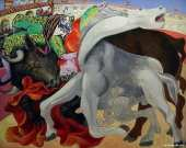 Bullfighting - The death of the bullfighter (Picasso)
