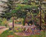 Children in a garden at Eragny (Pissarro)