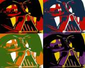 Dark Vador x4 (Pop Art)